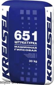 Gips-Maschinenputz 651. Машинная гипсовая штукатурка